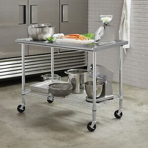 Stainless Steel Top Work Table Kitchen Restaurant Prep Nsf 48 W X 30 D X 37 h