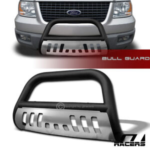 For 2003 2017 Ford Expedition Bull Bar Bumper Grille Guard Skid Matte Black