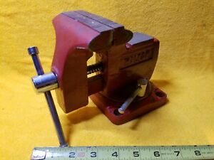 Vintage 3 1 2 X 3 Wilton Swivel Bench Mount Vise With Pipe Jaws