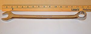 1 1 16 Inch Armstrong Usa Full Polish Long Pattern 12 Point Combination Wrench