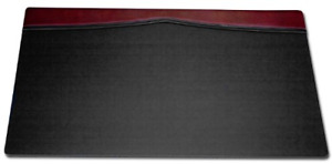 Dacasso Desk Pad With A Top rail 34 By 20 inch Burgundy