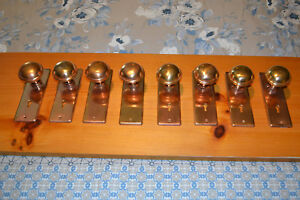 Antique Vintage East Lake 4 Sets Of Brass Door Knobs Plates 62