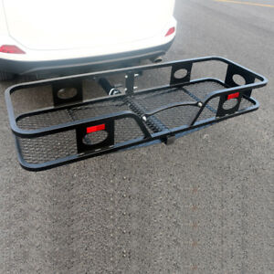 Hitch Mounted Folding Cargo Carrier Receiver Luggage Basket For Cars Trucks Suv