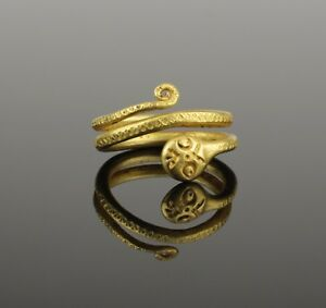 Ancient Roman Gold Snake Ring 2nd Century Ad