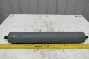 Hd 26 wide 4 Dia Steel Conveyor Roller 1 Shaft W bearing 30 Over All Length
