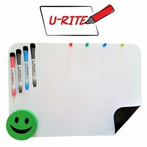 17 x11 Magnetic Dry Erase Whiteboard Sheet 4 Markers 4 Magnets 1 Smiley Eraser