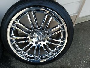 Mercedes Sl 18 Inch Chrome Wheels And Tires Fits All Series Sl Models