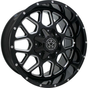 20x12 Black Milled Dw14 5x5 5 5x150 44 Wheels Open Country Mt 35 Tires