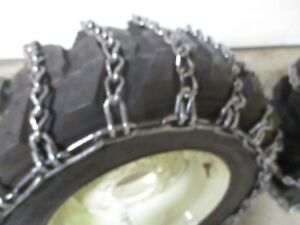 Skid Steer Tire Snow Chain Traction Case Hardened 10 16 5 2 Link