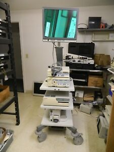 Olympus Visera Otv s7 Clv s40 Endoscopy Tower W camera tested