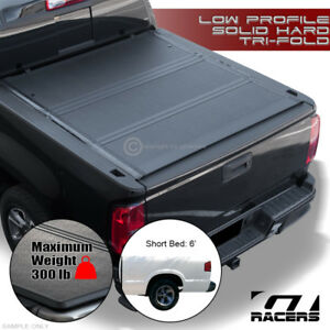 For 1994 2003 Chevy S10 gmc S15 6 Bed Low Profile Hard Tri Fold Tonneau Cover