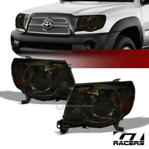 For 2005 2011 Toyota Tacoma Smoke Housing Headlights Signal Lamps Amber Pair Nb