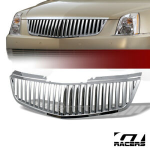 For 2006 2011 Cadillac Dts Chrome Vertical Front Bumper Grill Grille Guard Abs