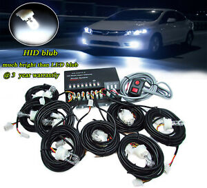 Hide a way 160w 8 White Hid Bulbs Emergency Strobe Light Rear front Beacon Light