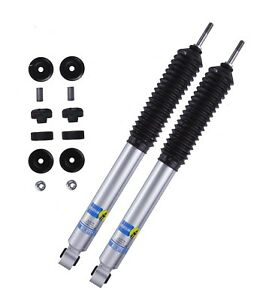 Set 2 Front Bilstein B8 5100 Shock Absorbers For Ram 2500 6 7 L6 4wd Lift 2 2 5