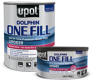 U Pol 659 Dolphin One Fill All In One Premium Auto Body Filler 3 Liter