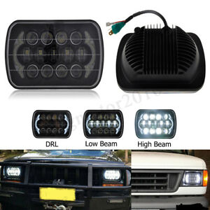 85w 7 X 6 5 X 7 Led Headlight Bulb Hi lo Beam Halo Drl For Jeep Cherokee Xj