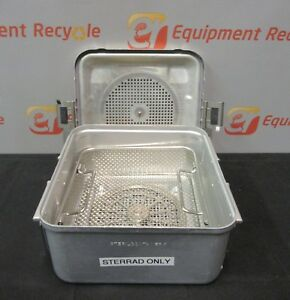 Aesculap Sterilization Tray Case Basket Lid Surgical System Container 11 x11 x6