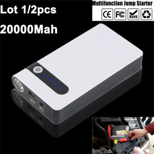 Lot 12v Portable Car Jump Starter Booster Jumper Box Power Bank Battery Charger
