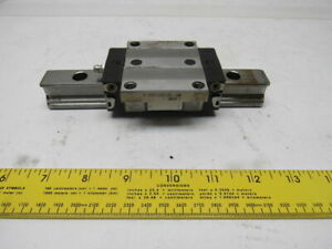 Rexroth R165129420 1 Linear Guide Bearing Block W 6 7 8 Rail