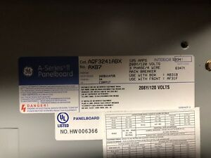 Ge A series Ii Panel Board Internal Cat Aqf3241abx new With 100 Amp Main Brkr