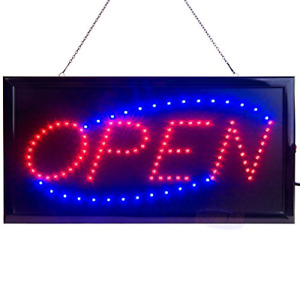 Led Open Sign For Business Displays Light Up Sign Open With 2 Flashing Modes