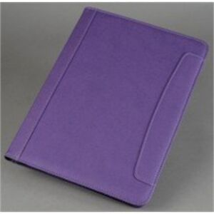 Spicers A4 Leather Look Writing Conference Folder Folio Case Purple