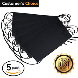 Nezzon Black Waitress Apron 5 Pack With 3 Pockets 7 9x6 5 commercial Grade 35