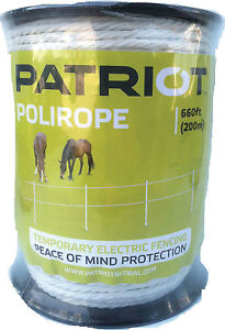 Patriot Electric Horse Fence Poly Rope Equi Braid Wire 6 strand Polirope 821450
