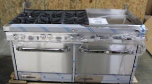 Southbend S series 60 In 6 Burner Griddle Ng Gas Commercial Range S60dd 2gr