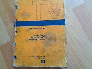 John Deere 310a 310b Backhoe Loaders Technical Service Repair Manual Tm1158 Oem