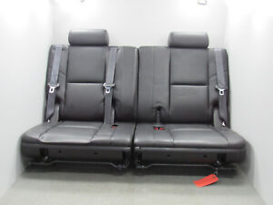 07 14 Escalade Yukon Suburban Tahoe Denali Third 3rd Row Leather Seats Black B