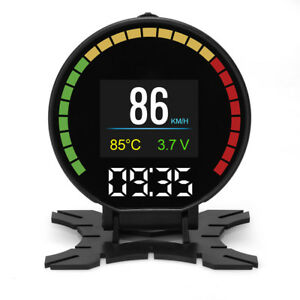 3 5 Car Hud Obd2 Head Up Display Digital Speedometer With Obd2 Euobd Scanner