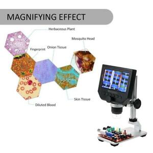 1 600x 4 3 inch 3 6mp Lcd Screen Digital Video Microscope With Metal Stand New