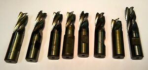 8 Pc Set 3 4 Niagara Cobalt Roughing End Mill Cutters Rougher Hsc Hogger Hsco