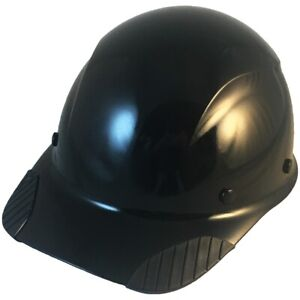 Dax Fiberglass Composite Lift Safety Cap Style Painted Black Hard Hat