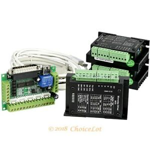 Cnc Kit 3 Axis Cnc Breakout Board 3 M335 Stepper Driver Controller 0 5 3 5a