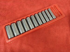 Snap On 311sya 1 2 Drive Standard 1 2 1 1 8 Deep 6 Point Socket Set In A Tray