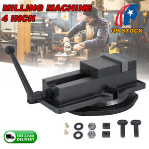 4 Precision Vise W Swivel Base Milling Drilling Machine Bench Clamp New Us