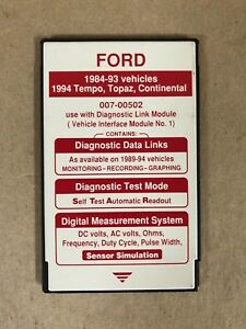 Ford Rotunda Special Tools 007 00502 Ngs Tester Red Card 1984 94 W Continental