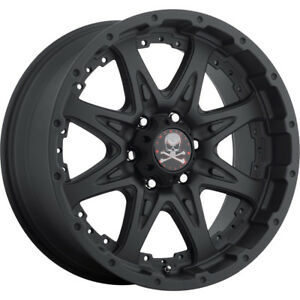 16x8 Matte Black American Outlaw Buckshot 5x5 5 6 Wheels 315 75 16 Tires