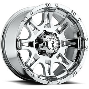 16x8 Chrome Raceline Raptor 983 5x4 5 0 Wheels Trail Grappler Lt315 75r16 Tires