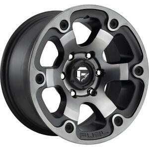16x8 Black Flake Beast D564 6x5 5 1 Rims Trail Grappler Lt315 75r16 Tires