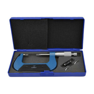 1 2 Outside Blade Micrometer Solid Metal Frame 0 0001 Blade Thickness 030