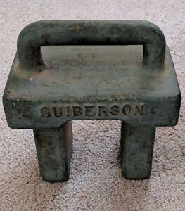 Vintage Guiberson Scale Platform Weight Cast Iron 25 Free Shipping T 15 M