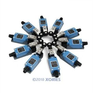 10pcs Micro Limit Switch Dpdt 1no 1nc Long Hinge Roller 4pins For Cnc Kit