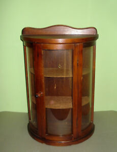 Rare Vintage Old Wooden Medicine Apothecary Cabinet Chest Cupboard