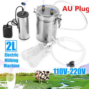 Pro 2l Electric Milking Machine Vacuum Pump Strong For Farm Sheep Goat Milking