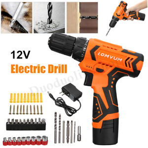 12v Screw Gun Cordless Hand Drill Power Tool Electric Screwdriver