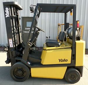Yale Model Glc050tf 1998 5000 Lbs Capacity Great Cushion Tire Forklift